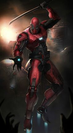 Ironman Deadpool mash , Ironpool, by Saad Irfan.