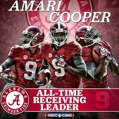 AMARI COOPER--ALL-TIME RECEIVING LEADER