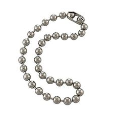 DragonWeave Extra Large Silver Steel Ball Chain Mens Necklace Extra Durable Color Protect Finish Any Length Chains For Men, Heavy Metal Rock, Ball Necklace, Stainless Steel Necklace, Ball Chain, Body Jewelry, Silver Color, Necklace Lengths, Necklaces