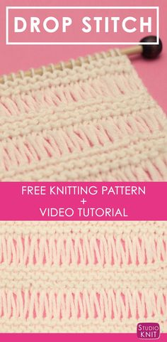 Drop Stitch Garter Knit Pattern