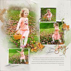 Oscraps.com :: Shop by Designer :: Anna Aspnes Designs :: Project Template Album No. 1 > Joy & ribbon
