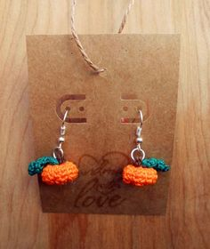 Crochet Pattern: The Cutest Pumpkin Earrings Ever ~ Crochet Cauldron