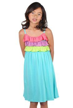 Lemon Loves Lime Sorbet Sun Dress for Tweens