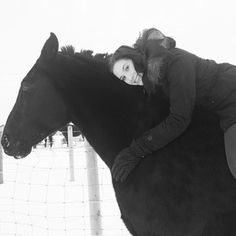 Instagram photo by daangeross - Tackless Tae rides. #yeg #horse #love