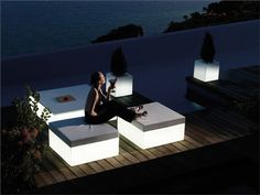 Illuminating patio furniture... What will those Europeans think of next?!