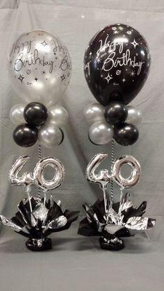 Miniloon Event tower - New Site Birthday Balloon Decorations, Balloon Centerpieces, 40th Birthday Centerpieces, 40th Birthday Balloons, 90th Birthday Parties, Birthday Celebration, Party Ideas, Balloon Tower, Balloon Ideas