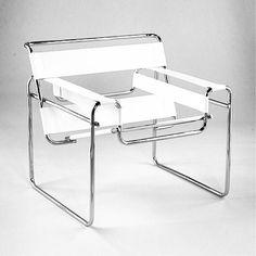 #Wassily #design #product #chair #interior #white #modern #minimalism