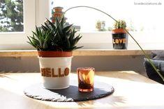 DIY Kork Buchstaben für Pflanzentöpfe // DIY Cork Letters for Plant Pots