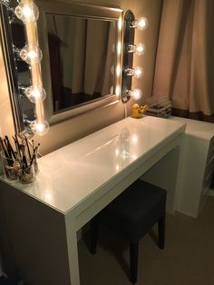Vanity Mirror With Lights Walmart Awesome Ikea Vanitymagnifiedbeauty On Instagrammalm Dressing Table Inspiration