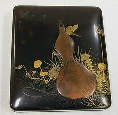 Writing Box with Design of Gourd Period: Meiji period