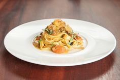Homemade Tagliatelle Spicy Tomato, Seafood Ragout, Toasted Breadcrumbs