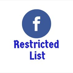 Facebook restricted list: How to add friends