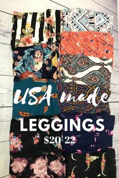 USA MADE LEGGINGS by abby + anna's boutique online. $20-22 for women's OS & Plus. Gorgeous prints! Leggings made in the USA. Love this company & their buttery soft leggings! Shop 24/7 (no need to wait for a party)!