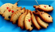 Guirlande de poissons en gâteaux secs