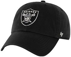 NFL Oakland Raiders Clean Up Adjustable Hat, Black, One Size Fits All Fits All ** FIND OUT ADDITIONAL INFO @: http://www.passion-4fashion.com/clothing/nfl-oakland-raiders-clean-up-adjustable-hat-black-one-size-fits-all-fits-all/