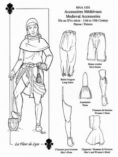 MAA1101 Medieval Accessories 11th15th century / by LaFleurdeLyse, $29.95