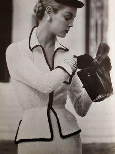 1950s Black & White Fashion | Cardigans