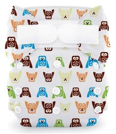3 - Thirsties Duo All-in-One diaper. An easy to use, affordable, cute, all-in-one diaper. Goes on as easily as a disposable, just wash and reuse instead of throwing away! #clothdiapers #nopins