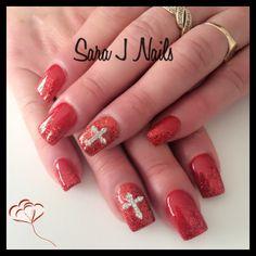 Red acrylic design