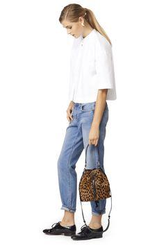 Elizabeth and James Accessories Leopard Haircalf Cynnie Mini Bucket #renttherunway