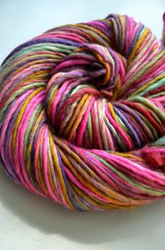 Stellar worsted Polwarth handspun yarn by marion on @Etsy