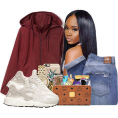 A fashion look from December 2015 featuring Lacoste activewear jackets, Nobody Denim jeans и NIKE shoes. Browse and shop related looks.