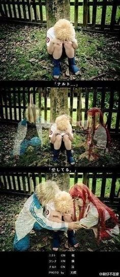 AMAZING cosplay ll Naruto ll Naruto with his mother kushina uzumaki and father Minato Uzumaki