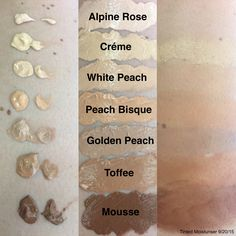 Pure Foundation Colors - maybe white peach? 100 Pure Cosmetics, Natural Cosmetics, Makeup Cosmetics, Foundation Colors, Makeup Foundation, Gluten Free Makeup, Non Toxic Makeup, Makeup Swatches, Tinted Moisturizer