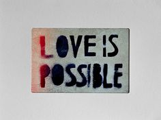 """Urban – """"Love is possible"""" - Unique A6 Photo-... – a unique product by Nadine-Ginzel on DaWanda"""