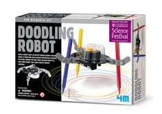Your little engineer will love building and playing with our drawing robot! This futuristic robot can doodle spectacular patterns on paper while vibrating and demonstrating energetic spinning powers. [4M, STEAM activity, STEM educational toy, kids arts and crafts, homeschool, preschool, elementary]