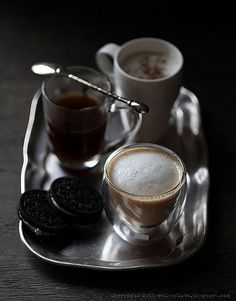 .Coffee and oreo
