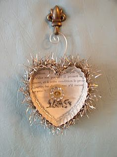 altered heart cookie cutter ornament