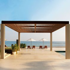 The most luxurious hotel on the beachfront features a sprawling domed fort in exquisite landscaped gardens. Most Luxurious Hotels, Luxury Hotels, The Chedi Muscat, Carlton Hotel, Oman Travel, Resort Wear, Middle East, Palace, Pergola