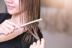 Going overboard with hot hair styling tools can result in dry, frizzy, brittle hair. Learn easy styling tricks to avoid or repair heat-damaged hair. Brittle Hair, Hair Blog, Wet Hair, Photos Of Women, Rainbow Hair, Damaged Hair, Styling Tools, Hair Tools, Hair Hacks