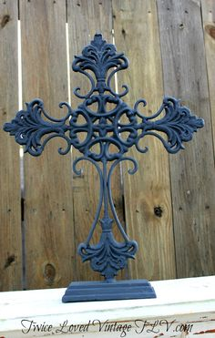 Black Iron Cross rustic wedding Vintage