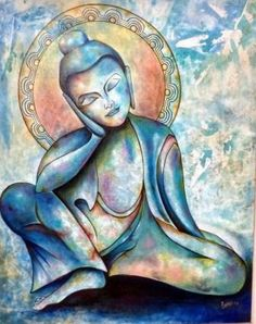 """When there is silence one finds the anchor of the universe within oneself"" ~ Lao Tzu Artist: Sonu Chopra Title: Gautama ♥ lis"
