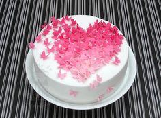 Butterflies in love - Motivtorte für Tortenkurs am Valentinstag