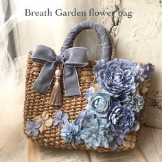 Best 12 Flower garden store Breath Garden * kiko & # s diary * image Fabric Purses, Fabric Bags, Diy Sac, Flower Bag, Embroidery Bags, Straw Handbags, Diy Purse, Boho Bags, Basket Bag
