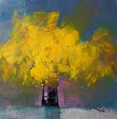 """Daily Paintworks - """"yelow bouquet"""" - Original Fine Art for Sale - © salvatore greco"""
