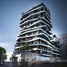 Pictures - Pré Gauchet - Social Housing - Nantes (Paris) - View from the surrounding - Architizer