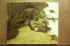 Angler (Alexander) 1976 by Ian Fraser oil on linen
