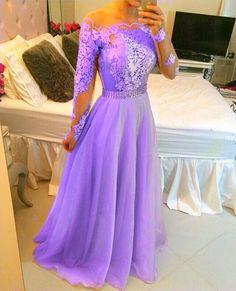 Vestido festa longo lilás
