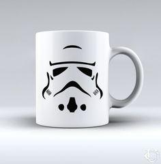 Stormtrooper Stars Wars siluet White Mug