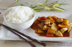 Wok, Asian Chicken, Spanish Food, Asian Style, Potato Salad, Good Food, Awesome Food, Chicken Recipes, Ethnic Recipes