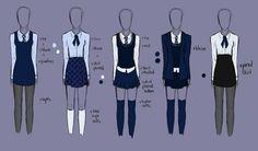 school uniform event http://hennalah.deviantart.com/art/School-Uniform-Designs-135399085