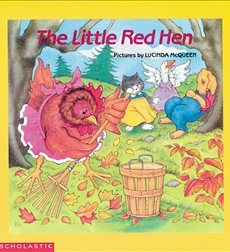 """""""The Little Red Hen"""" illustrated by Lucinda McQueen for teaching sequence of events."""