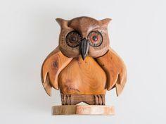 Wooden OWL trinket box base collection by Artigianalmentelegno