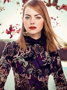 "Emma Stone - Added to Beauty Eternal - A collection of the most beautiful women. pedalfar: ""More Photos of Emma Stone's Vogue Feature "" Fashion Magazine Cover, Vogue Magazine, Magazine Photos, Magazine Covers, Emma Stone Photoshoot, Vogue Photoshoot, Actress Emma Stone, Craig Mcdean, Rides Front"