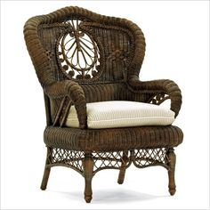 Intricate wicker chair: by Mitchell Gold and Bob Williams by DeeDeeBean
