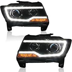 Win Power Jeep Compass Grand Cherokee Headlight Assembly Replacement Kit With Beautiful LED DRL Bi-Xenon Bulb And Ballast Pair) Jeep Grand Cherokee 2012, Jeep Grand Cherokee Laredo, Accesorios Jeep Grand Cherokee, Jeep Grand Cherokee Accessories, Jeep Wj, 2013 Jeep, Jeep Mods, Jeep Accessories, Jeep Compass